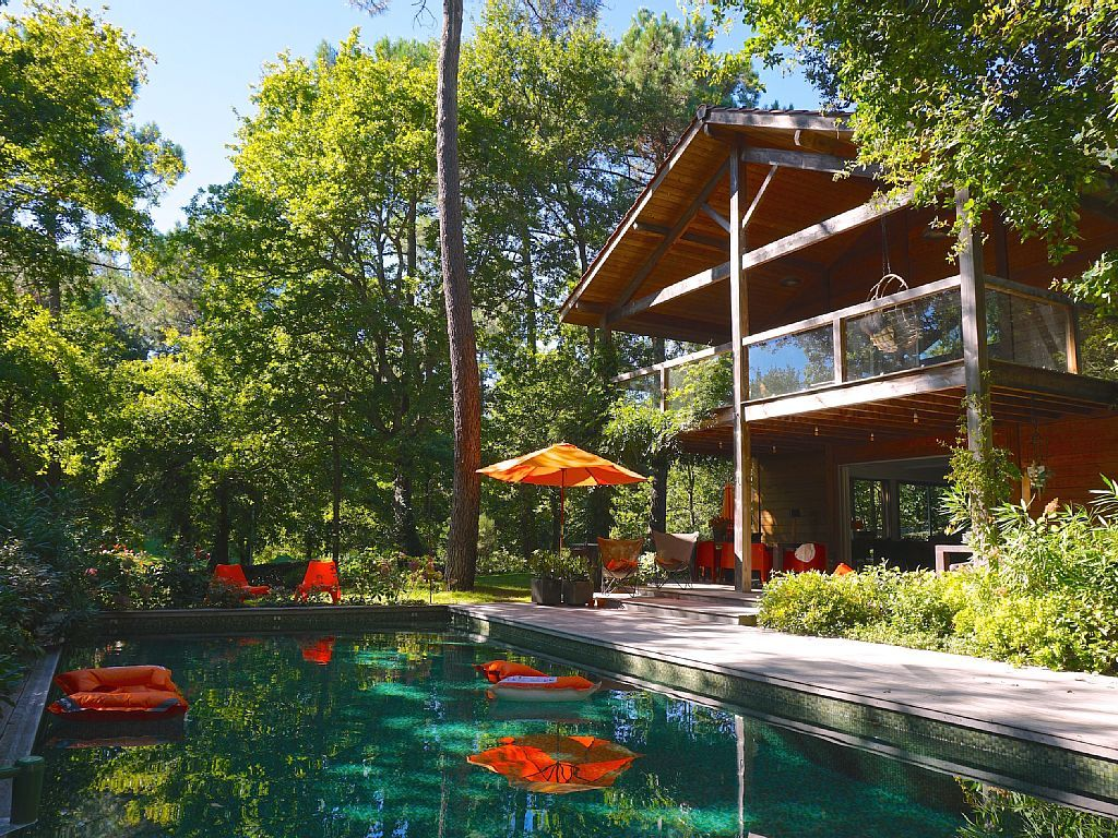 Abritel Location Biscarrosse Luxueuse Villa étoiles En Bois - Location biscarrosse plage avec piscine