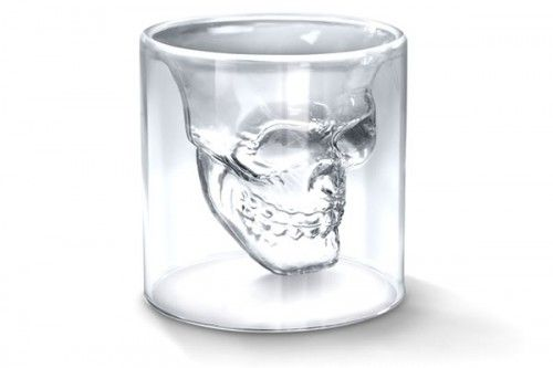 Unique Crystal Skull Head Vodka Whiskey Shot Glass Cup Drinking Ware Home Bar DN