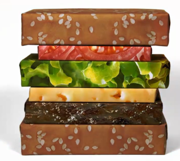 cheeseburger wrapping paper for