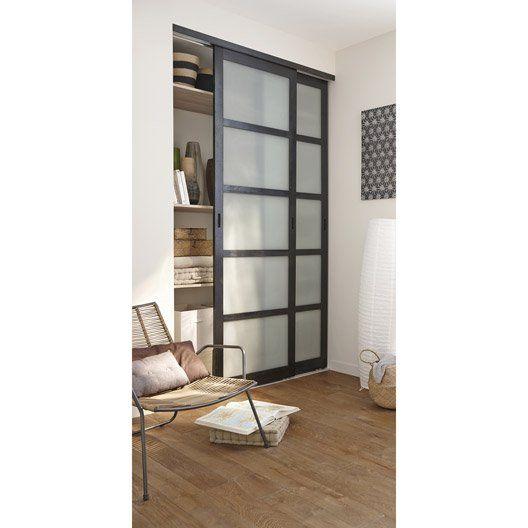 KAZED - portes de placard coulissantes Traditionnel Cérusé blanc et