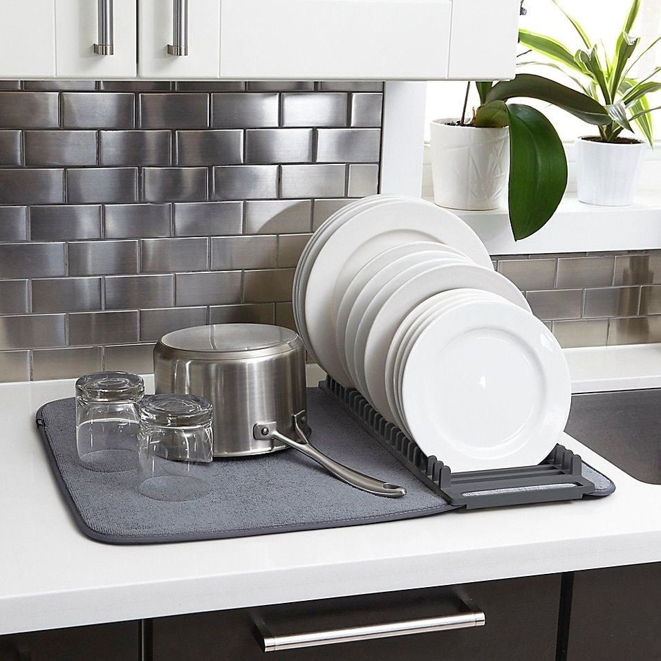 Umbra U Dry Drying Rack With Mat Bed Bath Beyond In 2021 Dish Rack Drying Drying Rack Dish Drying Mat