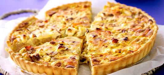 Quiche met witloof, feta en gerookte zalm   Cooking time   Pinterest   Quiches, Food inspiration