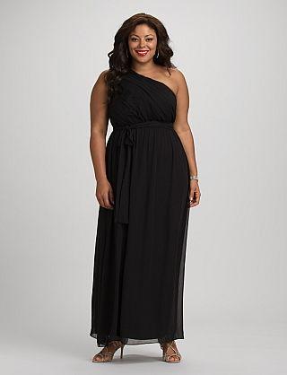 Db Rsvp Plus Size Long One Shoulder Dress Plus Size Fashion