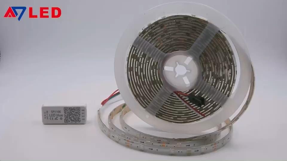 Full Color Dmx Digital Addressable Programmable Controller 30led M Dc12v Smd5050 Rgb Ws2811 Strip Video Led Led Strip Print Advertising