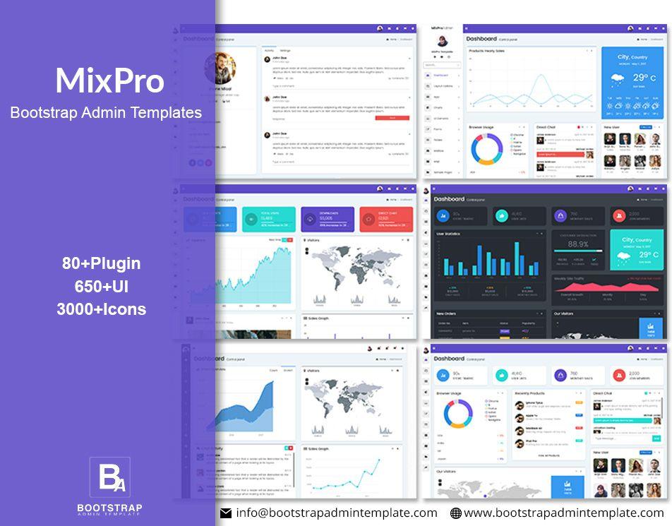 Mixpro Bootstrap 4 Admin Templates Responsive Templates Templates Ecommerce Template Admin