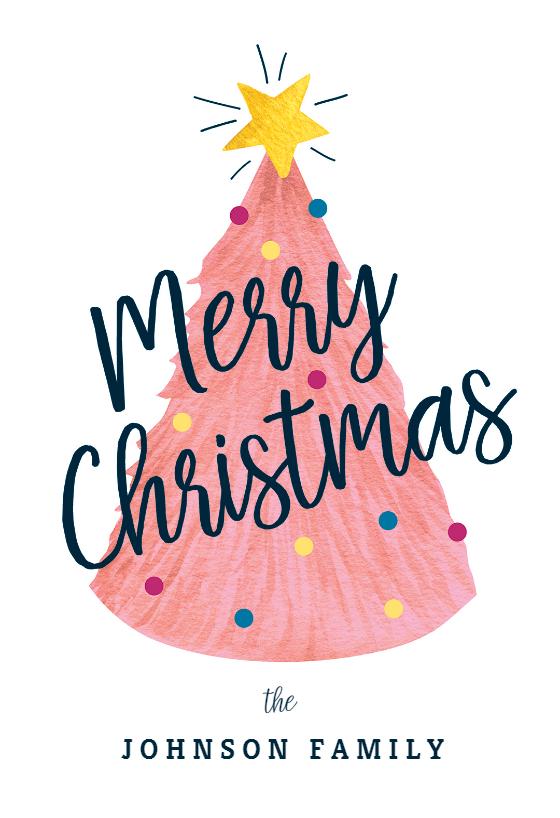 Pink Tree Christmas Card Free Greetings Island Christmas Card Sayings Christmas Cards Free Custom Christmas Cards