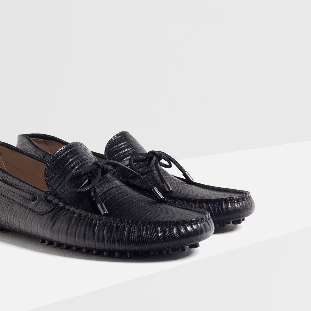EMBOSSED LEATHER LOAFERS-Moccasins-SHOES-MAN | ZARA Turkey