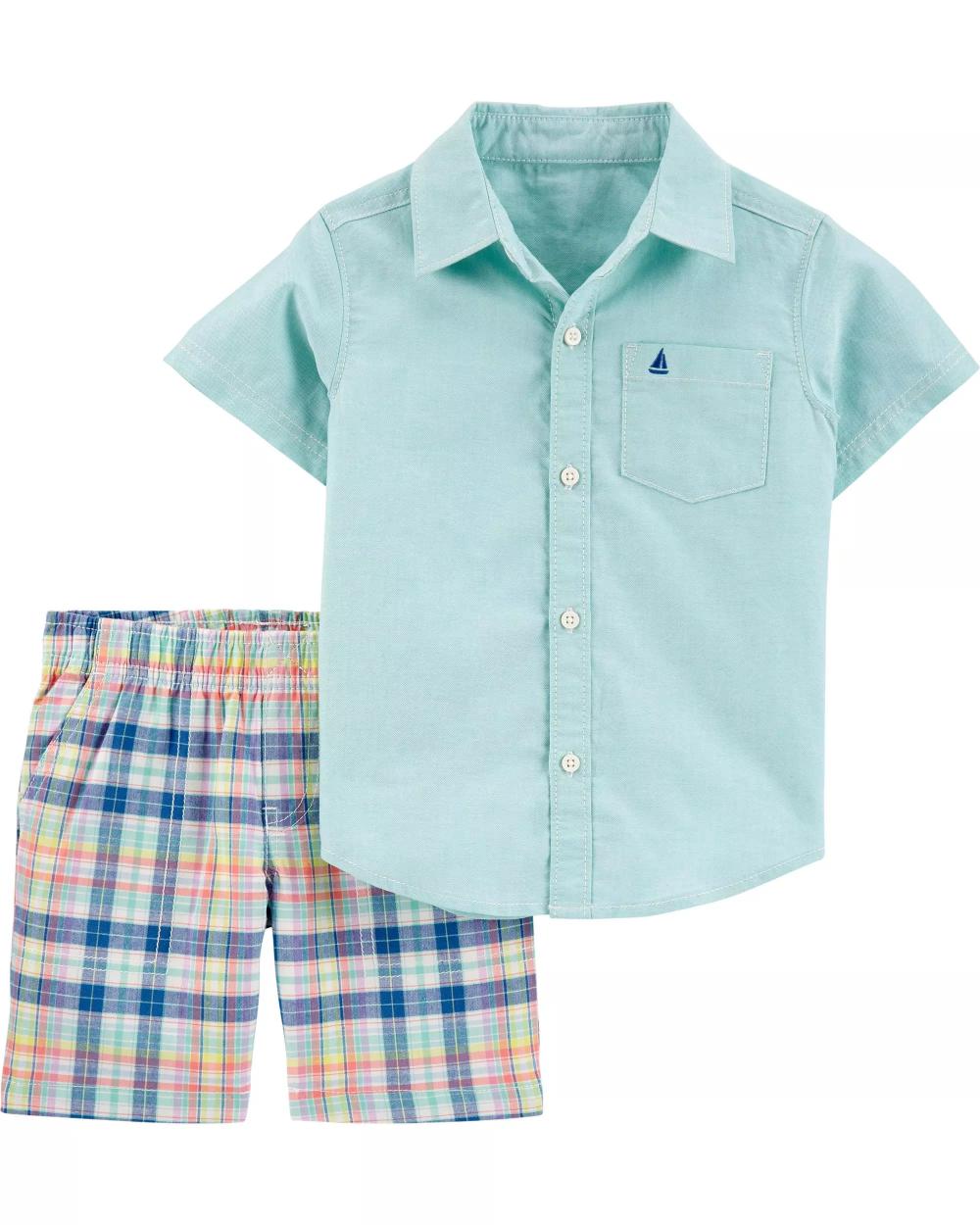 Carters Little Girls Twill Uniform Shorts 2-Toddler