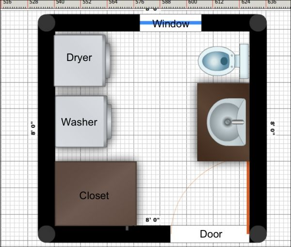Bathroom With Laundry Floor Plans Pics