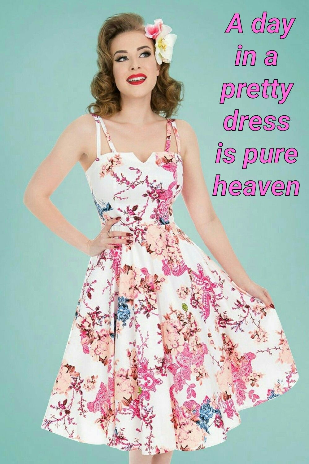 7234fd79ee6b LouiseLonging Hearts And Roses, 50s Dresses, Pretty Dresses, Floral Dresses,  Swing Skirt
