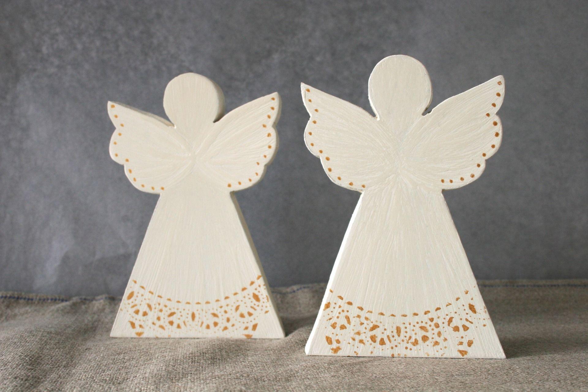 Decoration De Noel Decorations De Table Anges Blancs Et