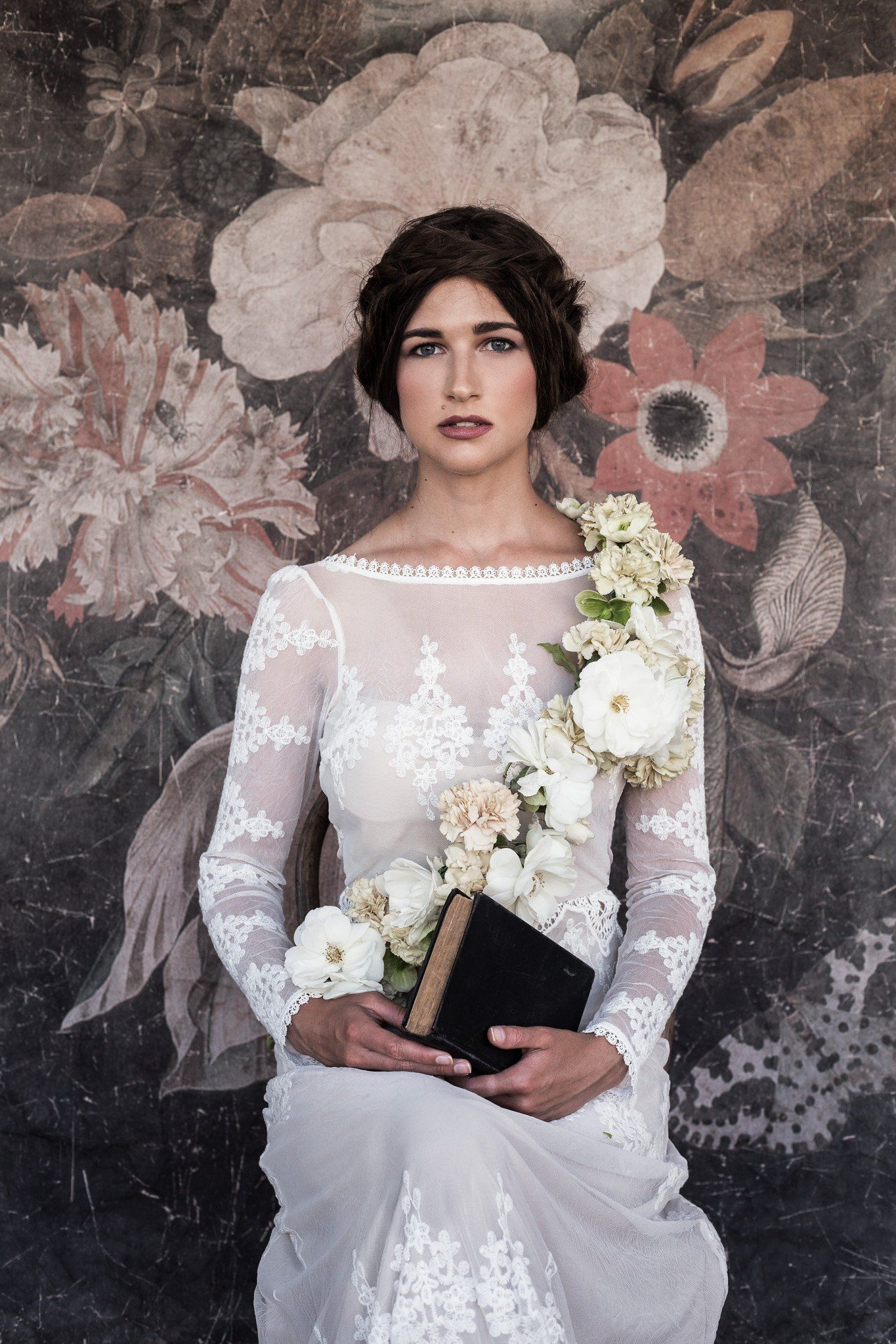 Lisa backless lace gown boho lace wedding dress lace wedding