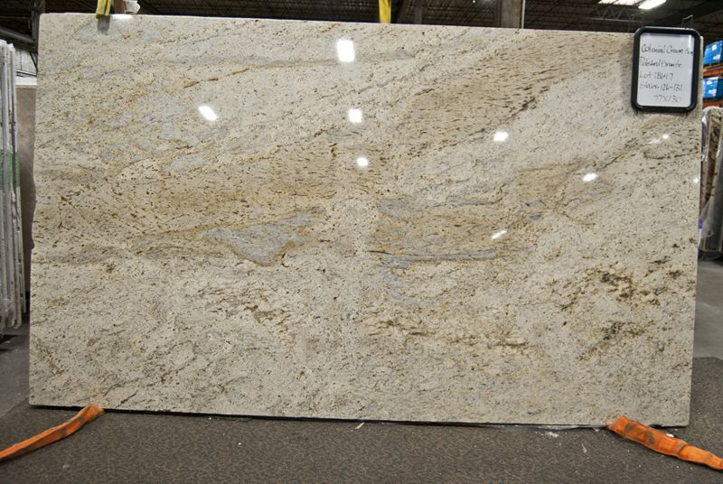 Granite terrazzo marble blog colonial cream home for Cream colored granite countertops