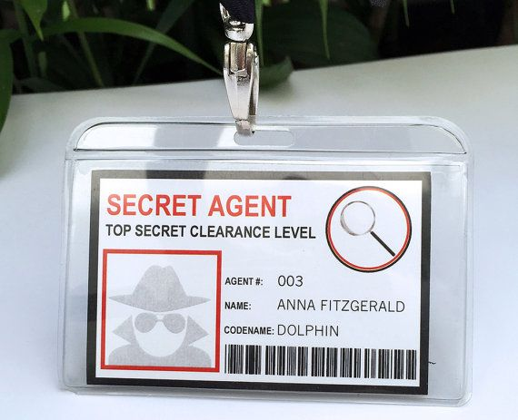 Spy Birthday Party Badge - Secret Agent Badge - Printable ID Badge Template - INSTANT DOWNLOAD with Editable text - you personalize at home #workathome