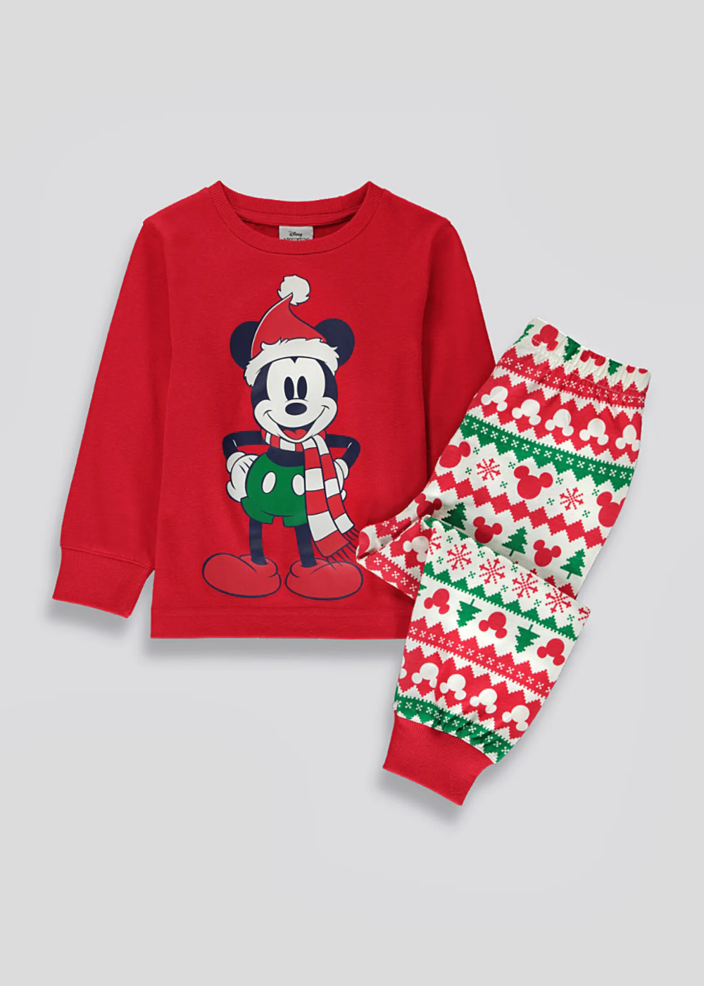 Kids Mickey Mouse Christmas Pyjama Set (12mths10yrs