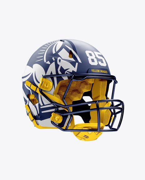 Download Matte American Football Helmet Mockup Halfside View In Apparel Mockups On Yellow Images Object Mockups In 2020 Football Helmets Design Mockup Free Mockup Psd