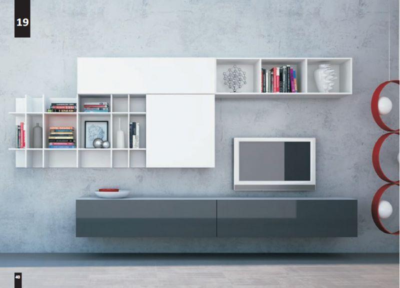 Kico living composizione n 19 moderno soggiorno il for Shop arreda