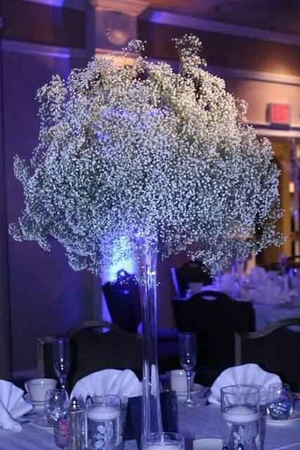 Christmas Wedding Baby Breath Centerpiece Purple Wedding Decorations Lavender Wedding Decorations Beautiful Wedding Decorations
