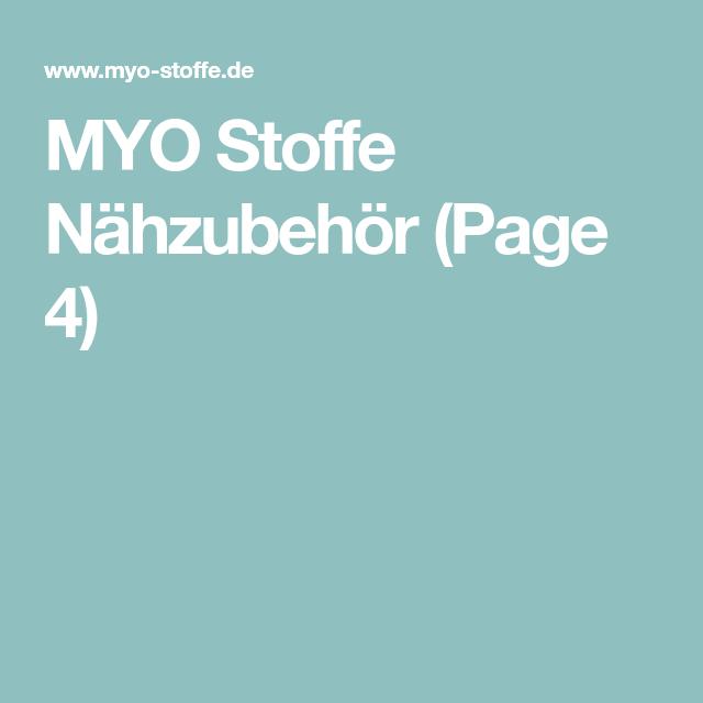 MYO Stoffe Nähzubehör (Page 4)