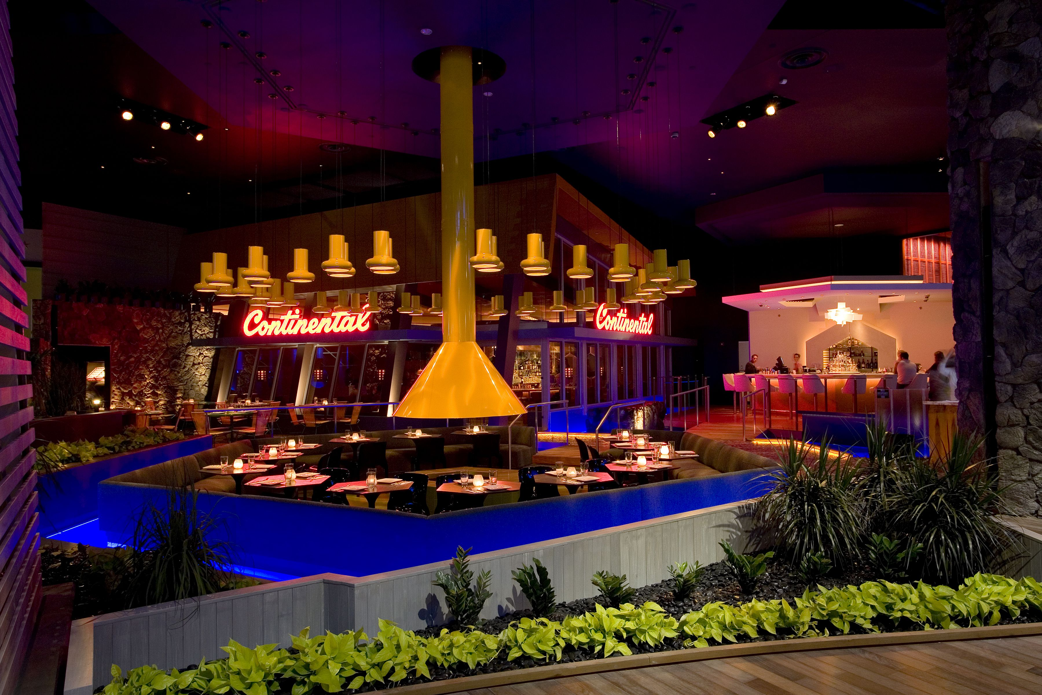 The Glowing Exterior Of Continental Ac At Night Atlantic City City Wine And Dine