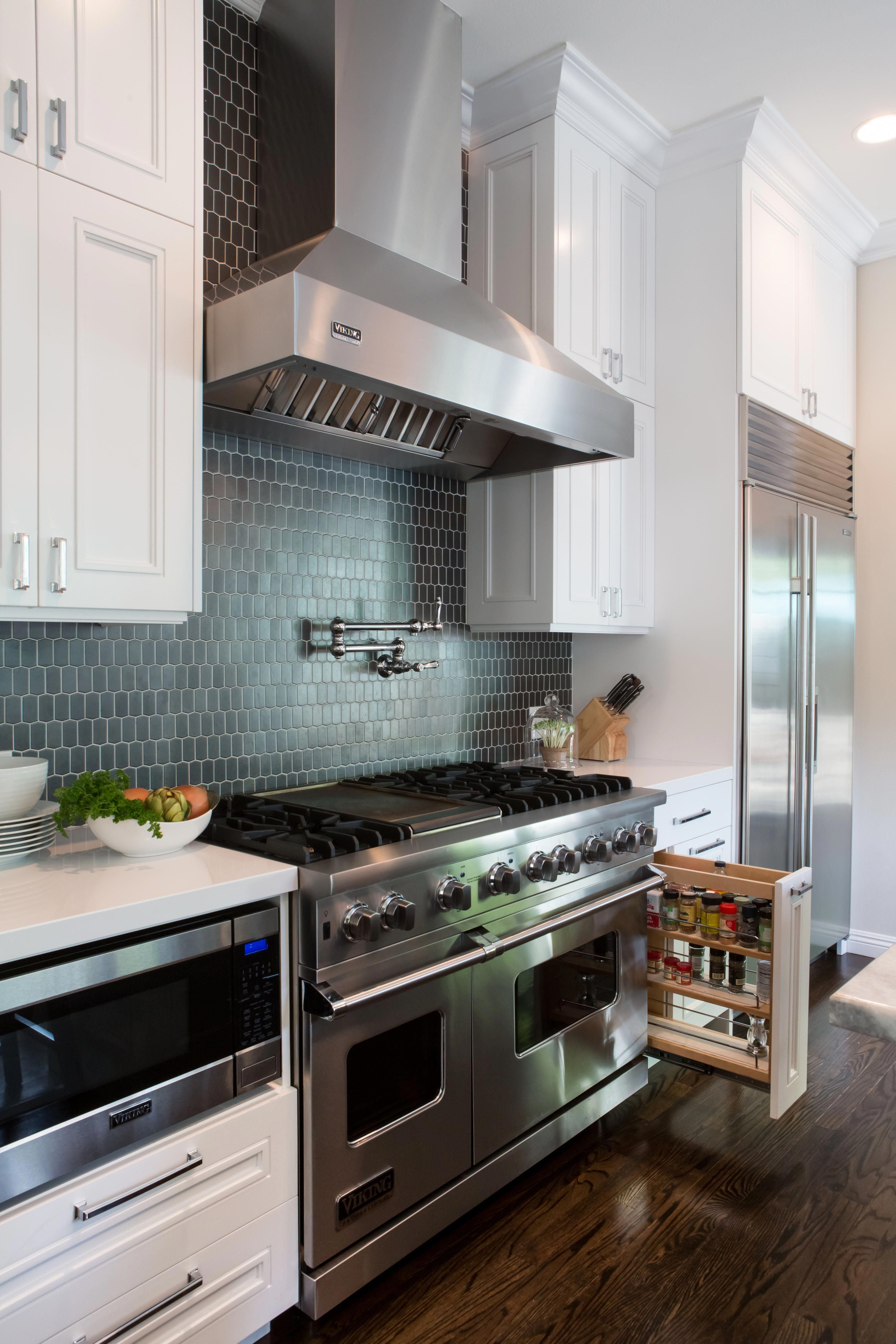 Pull out spice cabinet kitchen design by erica islas emi interior