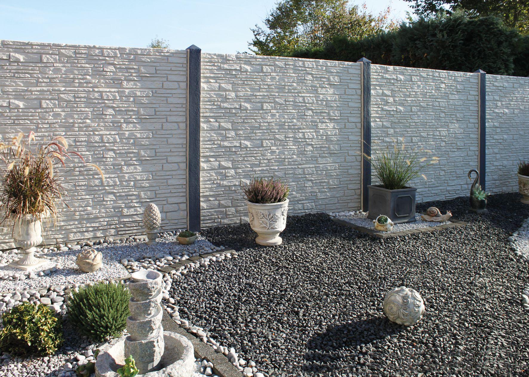 Betonzaun Schallschutzwand Betonzaun Vorgarten Zaun Zaun