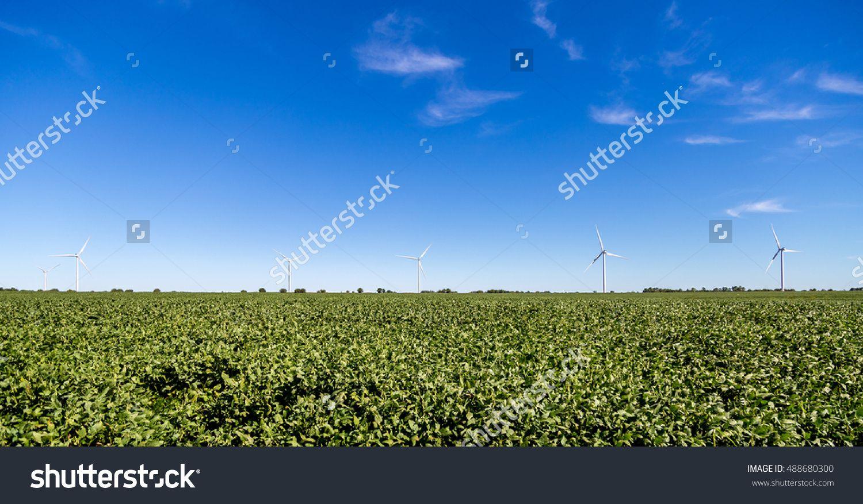 Wind Turbines In A Kansas Field. Stock Photo 488680300 : Shutterstock