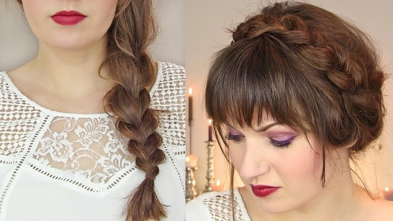 Hairstyle For Thin Hair Cute Hairstyles For Thin Hair Thick Braid & Milkmaid Updo  Hair