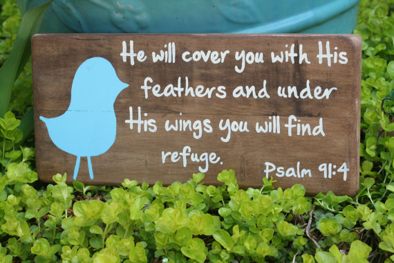 He will cover you with His wings verse by barndoorstudios on Etsy