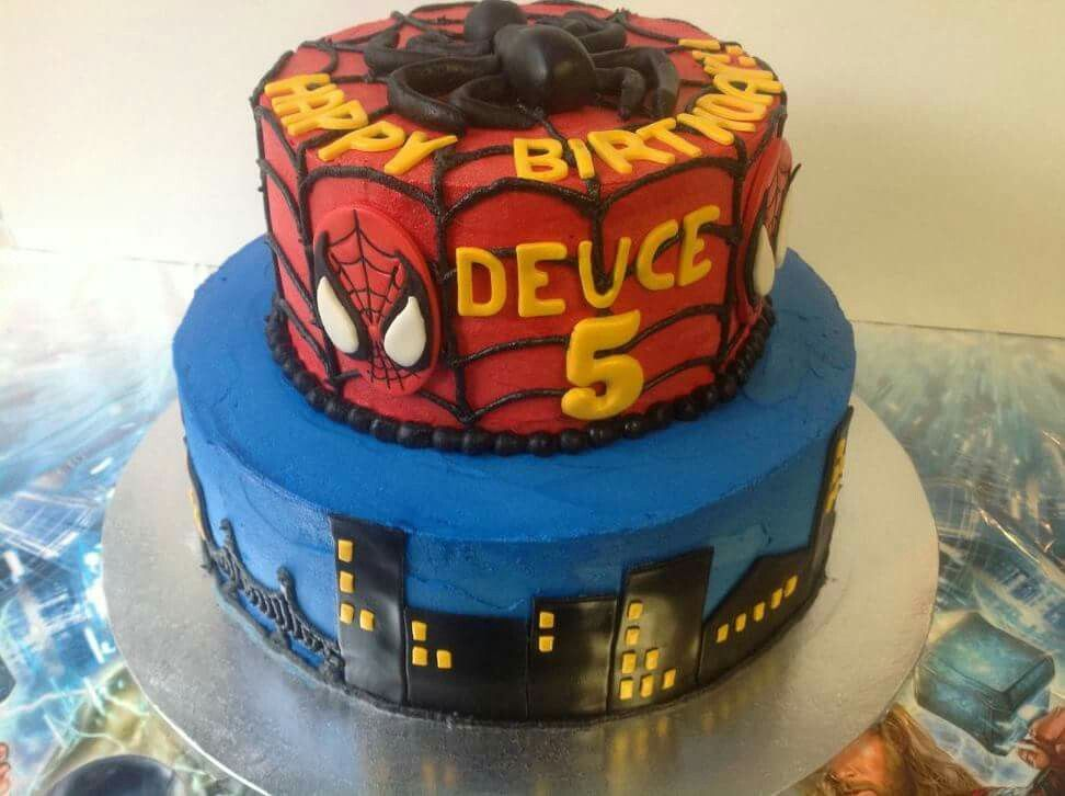 SpiderMan Cake Birthday Cakes Pinterest Man cake Orange