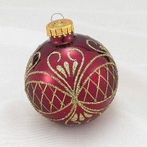 Purple Decorative Balls Burgundy & Gold Decorative Balls  Gold And Burgundy