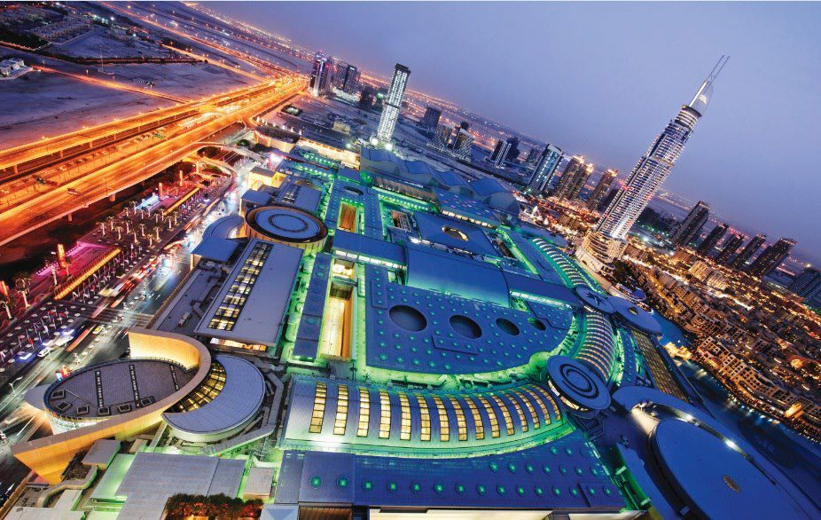 The Dubai Mall is the largest shopping and entertainment destination in the world.