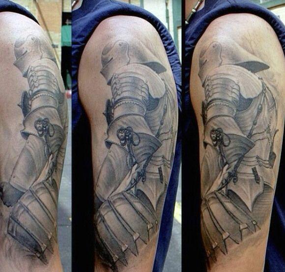 Mens Arm Knights Templar Tattoo
