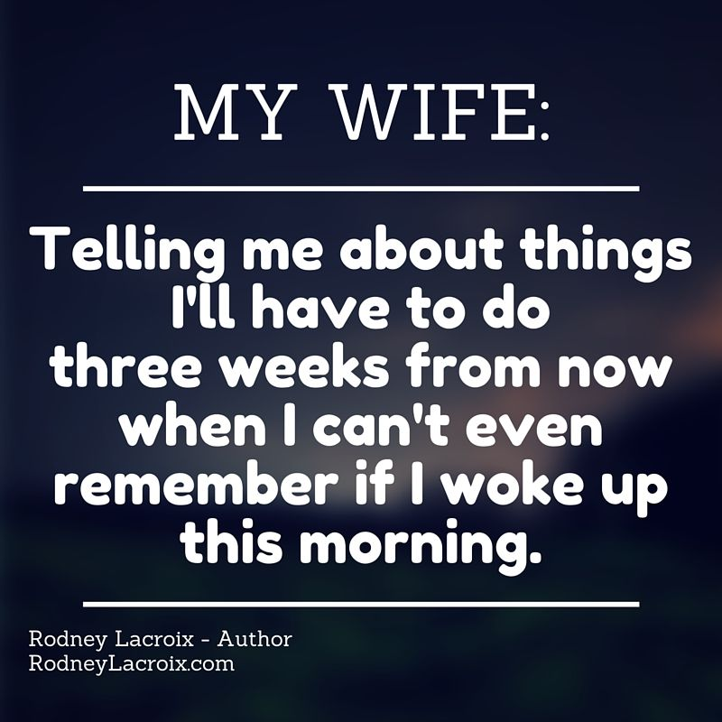 Marriage Wife Humor Funny Meme Author Tweets From