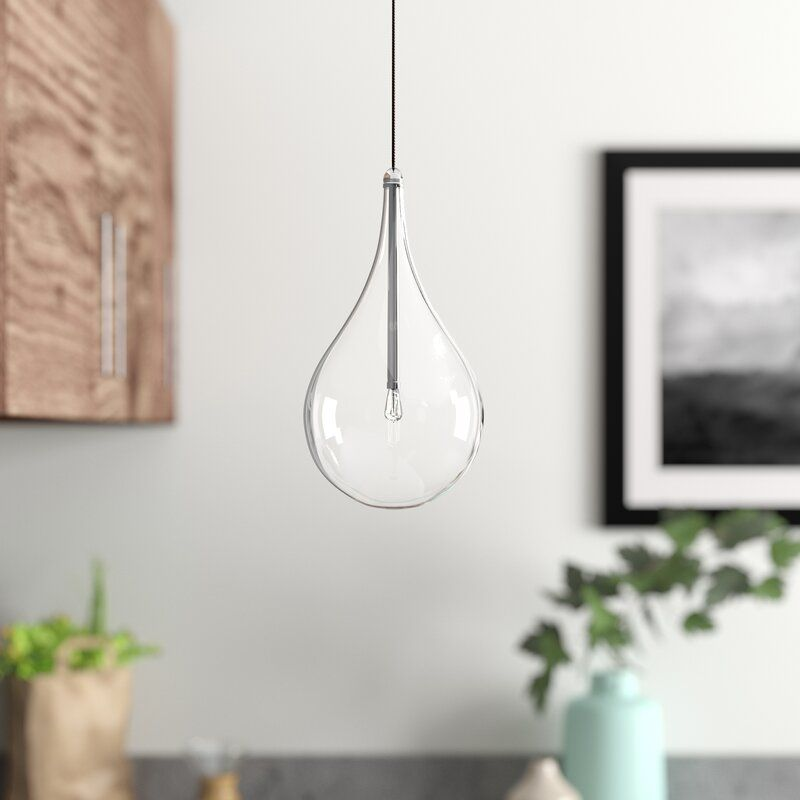Neal 1 Light Single Teardrop Pendant Reviews Allmodern Bedside Pendant Lights Pendant Lighting Contemporary Pendant Lights