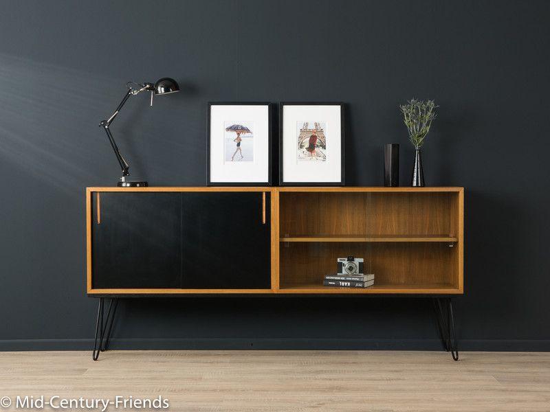 60er sideboard kommode 50er wk vintage von mid century. Black Bedroom Furniture Sets. Home Design Ideas