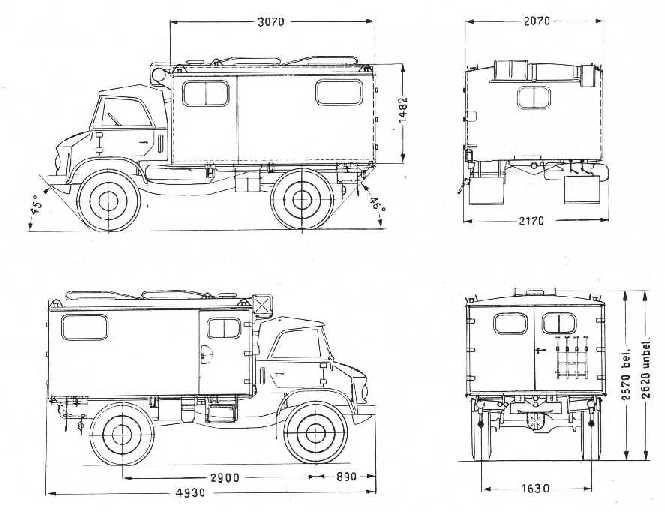Image result for unimog 404 blueprint | transport | Pinterest | 4x4 ...