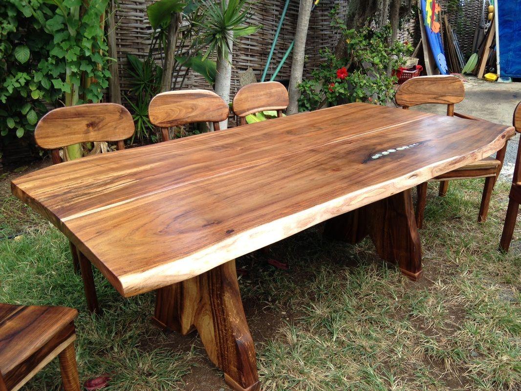 Kini Woodworkinghawaii 808 227 9473 Solid Wood Furniture Tropical Hardwoods Monkey Pod Koa Woodworkin Wood Cafe Wood Table Design Hawaiian Furniture