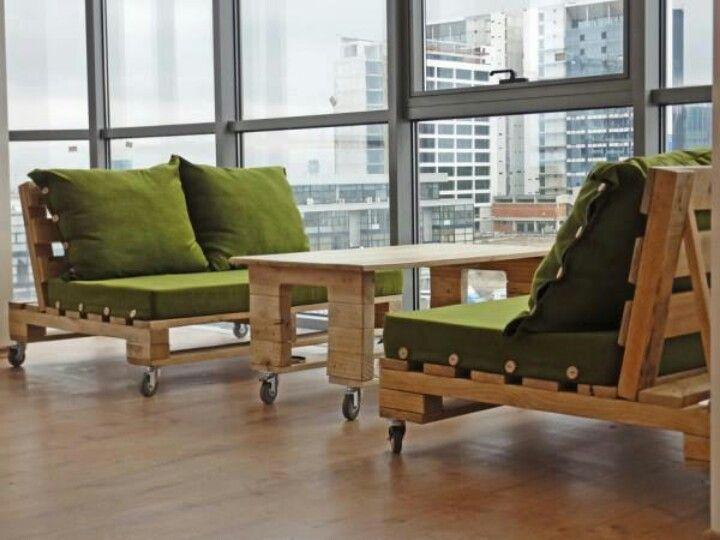 Very Cool Indoor Living Room Pallet Furniture