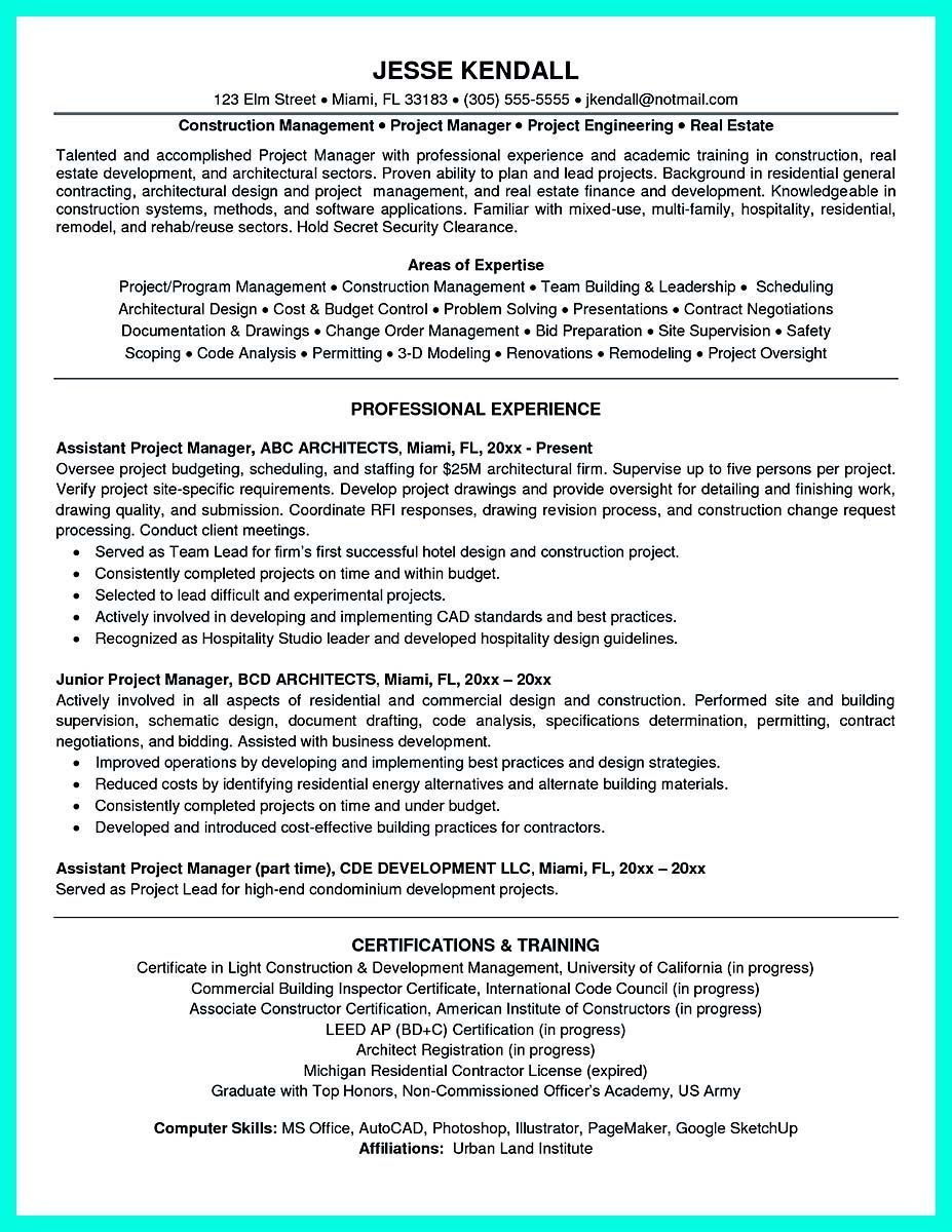 Awesome Cool Construction Project Manager Resume To Get Applied Check More At Http Snefci Project Manager Resume Job Resume Samples Sample Resume Templates