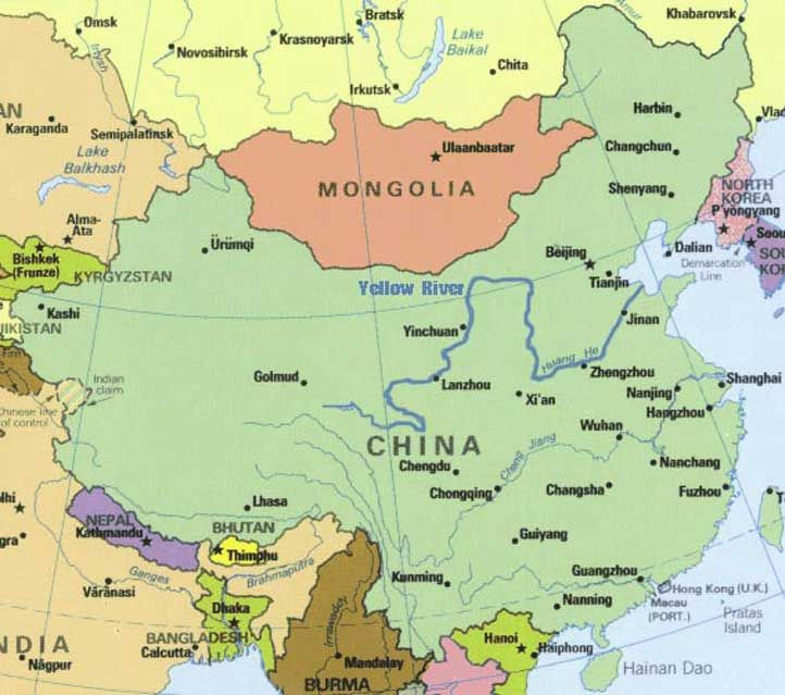 Yellow River China Map Stories of Yellow River in China: Physical Geography of the Yellow