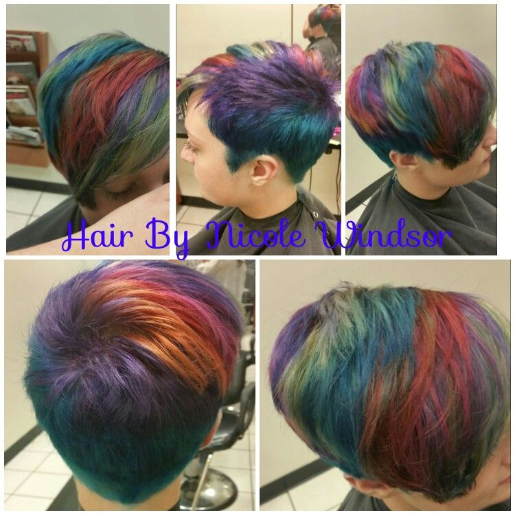 Fun colors! Hair by Nicole Windsor at Jcpenney salon in