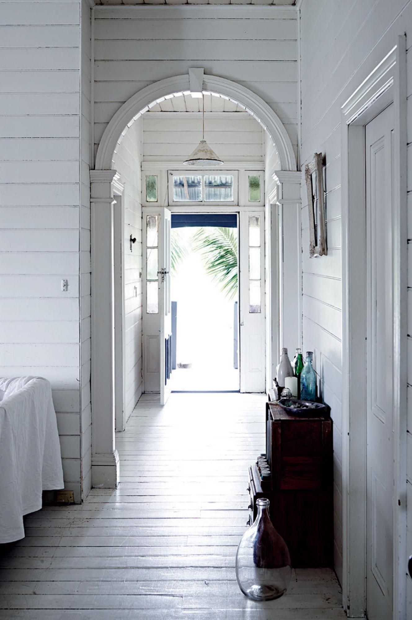 All White Interior Design Of The Homewares Designer Home: A Traditional Queenslander Home With All-white Interior