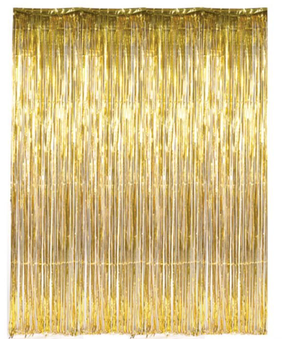 Dr69268 Gold Foil Fringe Curtain Backdrops For Parties Curtain