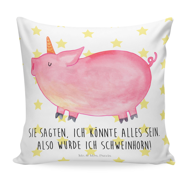 40x40 Kissen Einhorn Schweinhorn Aus Soft Feel Kissenbezug
