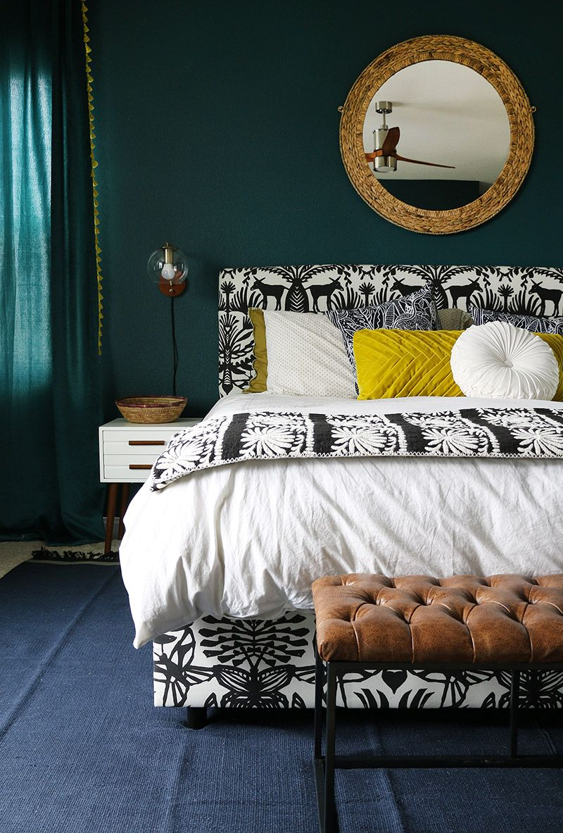Dark Teal Bedroom Reveal Persia Lou Teal Bedroom Dark Teal