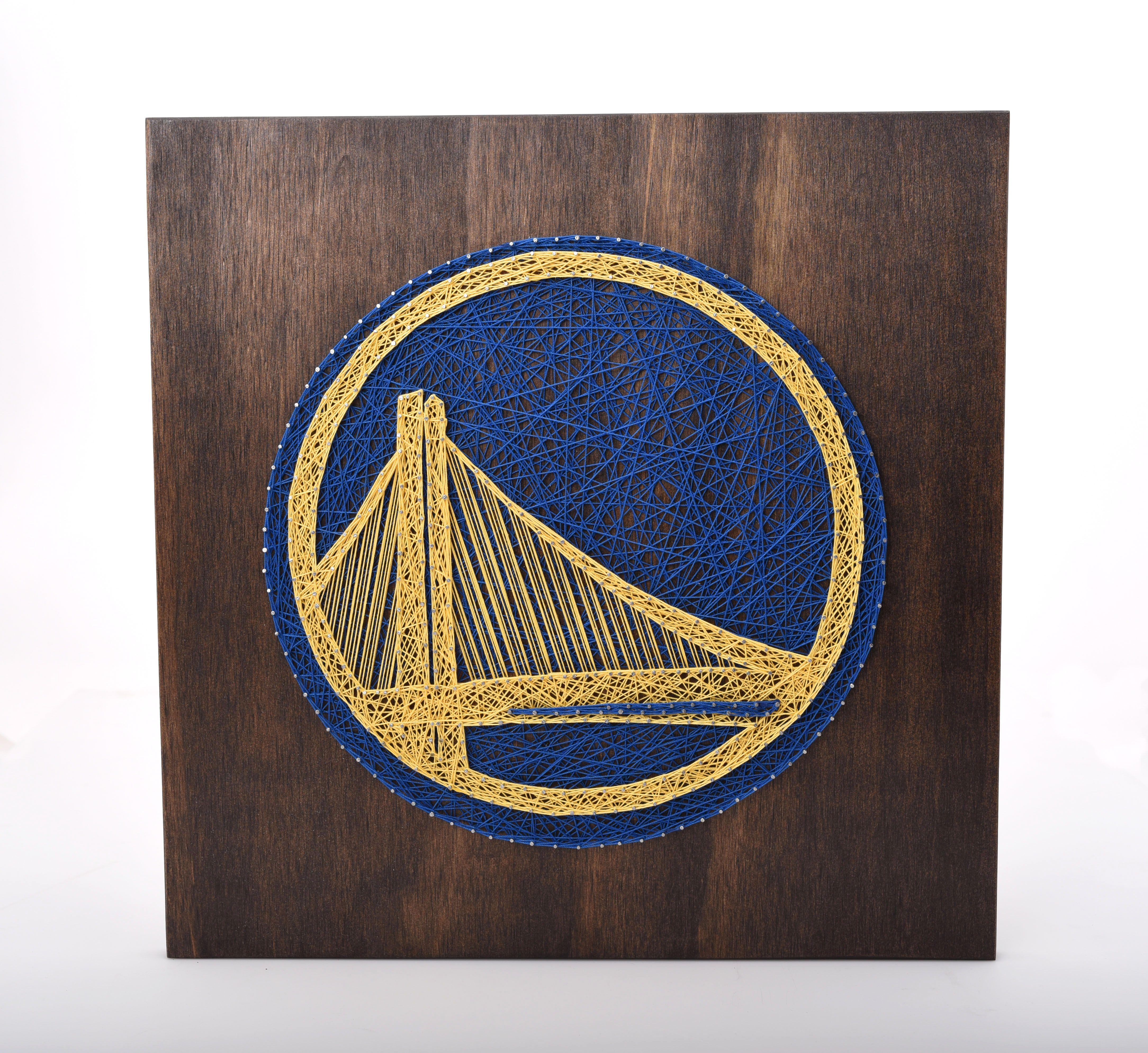 Golden state warriors string art