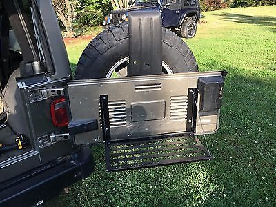 Jeep Tj Tailgate Molle Panel And Fold Down Table Jeep Memes