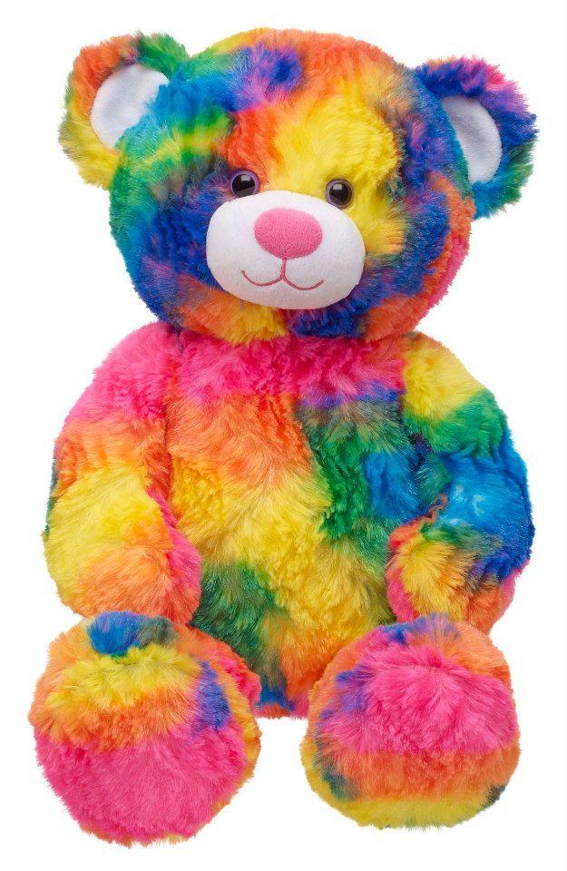 Build a Bear Workshop, Tropicolor Teddy Bear, 17 in.