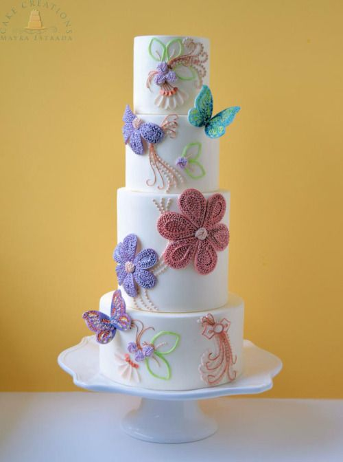 A Pinterest-Approved Trend Youll Love: Beaded Wedding Cakes